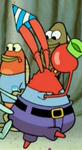 Mr. Krabs Wearing a Party Hat