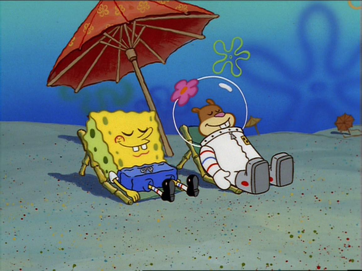Sandy and spongebob hook up