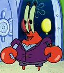 Mr. Krabs Wearing a Coat