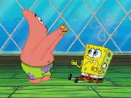 Patrick About To Eat Patty Pal