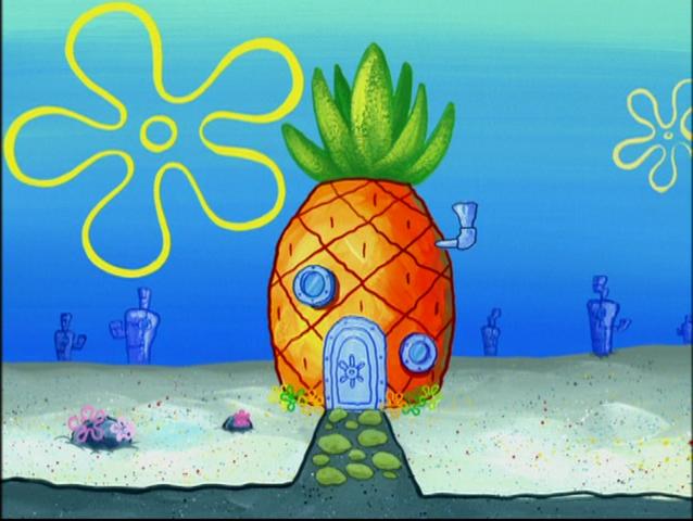 File:SpongeBob's pineapple house in Season 4-7.png