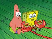 Spongebob and patrick recieved a new toy