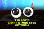 2 Plastic Craft Store Eyes