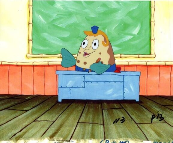 File:SpongeBob SquarePants Mrs. Poppy Puff Character Animation Cel Image Nickelodeon 4.jpg