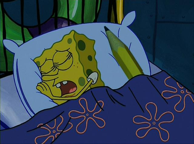File:SpongeBob sleeping with magic pencil(2).PNG