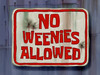 No Weenies Allowed title card