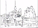 SpongeBob, Mrs Puff and Patrick storyboard