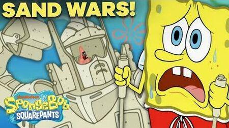 SpongeBob and Patrick Start a Sand Castle War! 🏰 Sand Castles in the Sand