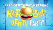Krabby Patty Party Krabby Patty Konstruction