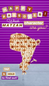 Nickelodeon's Instagram story - Passover matzah character - Pearl