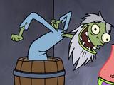 Animatronic old man
