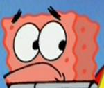Patrick with SpongeBob's Skeleton Instead of His Own