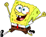 SpongeBob excited stock art