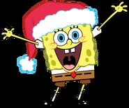 SpongeBob with a santa hat stock art