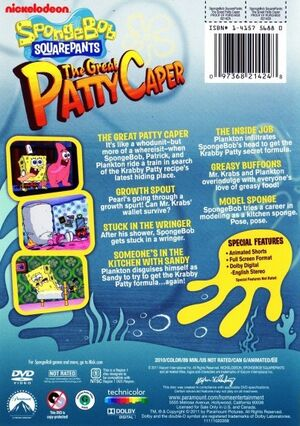 The Great Patty Caper DVD Back Cover