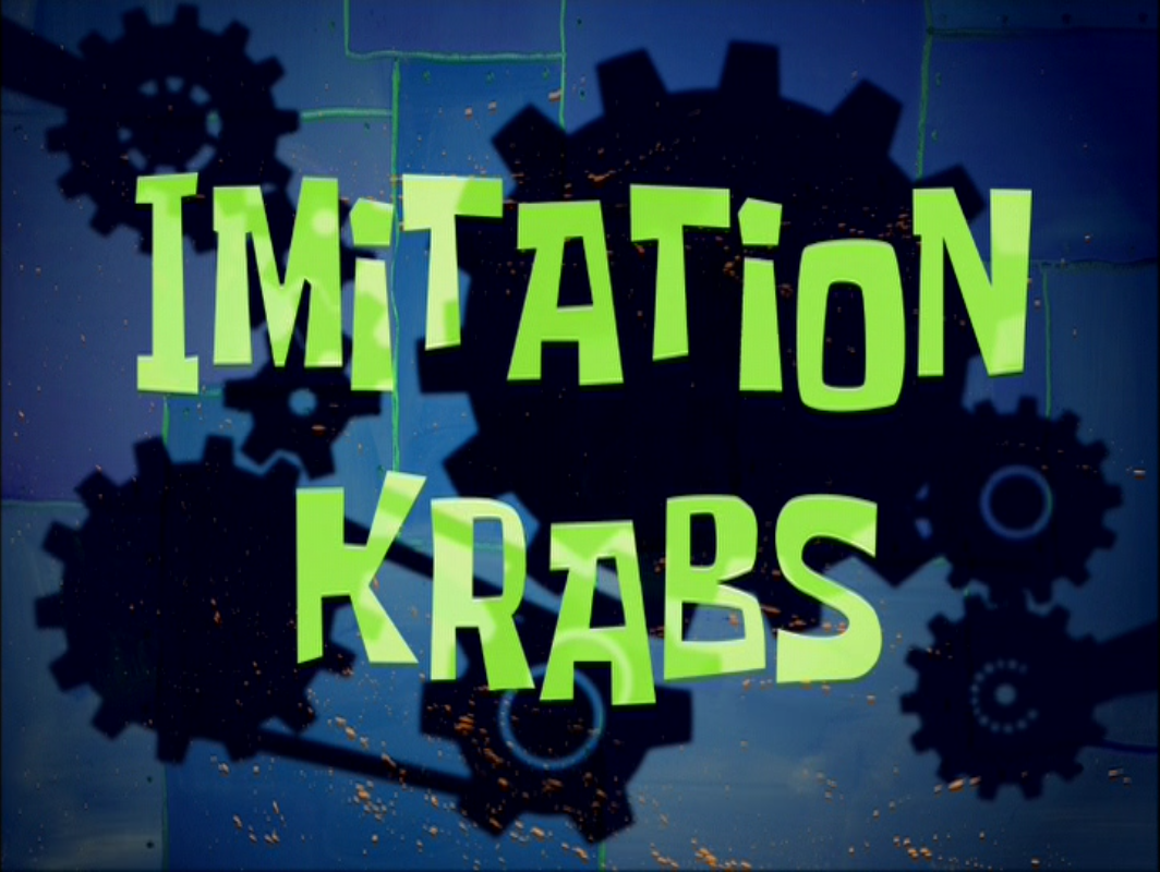 imitation krabs transcript encyclopedia spongebobia fandom