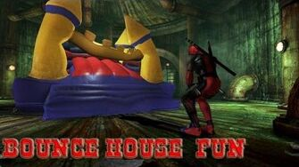DeadPool Bounce house fun