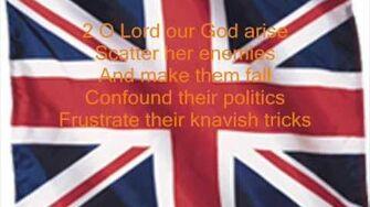 British Anthem, God Save the Queen (with lyrics)
