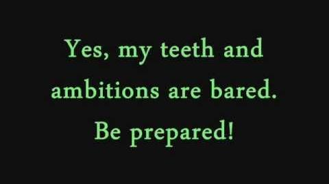 Be Prepared- The Lion King (lyrics)