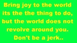 Spongebob Squarepants-Don't be a jerk(Its Christmas)