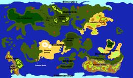 Slimeball Globe Map