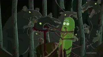 Pickle Rick Rat Fight Scene