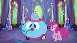 Pinkie Pie cleaning up after the party
