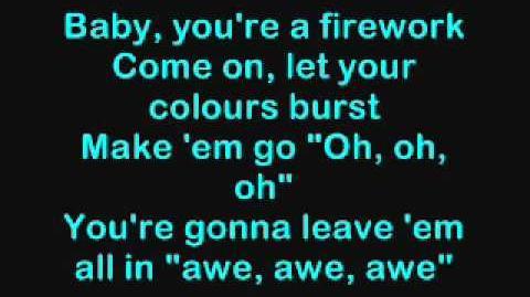 """Katy Perry """"Firework"""" Lyrics"""