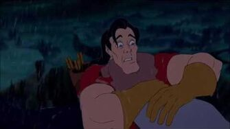 Beauty and the Beast Gaston vs Beast Gaston's death HD