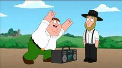 Family Guy Highway to HEll Amish Guy