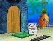 DoodleBob at door