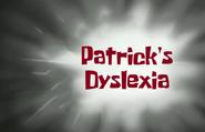 Patricksdyslexia