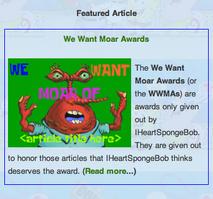 Moar Award Featured