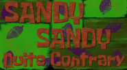 Sandy Sandy Quite Contrary (Revised)