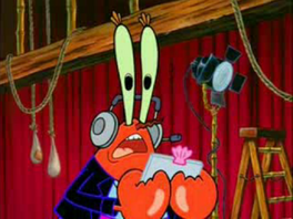 Mr Krabs offstage