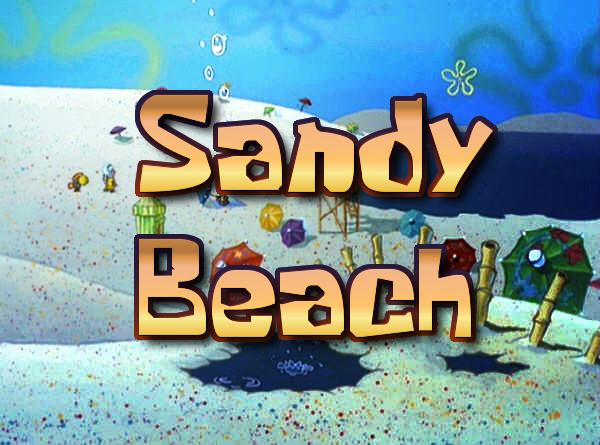 Sandy beach spongebob fanon wiki fandom powered by wikia the beach voltagebd Choice Image
