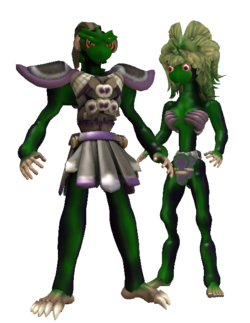 Humanoid Green skinned