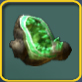 Green geode icon