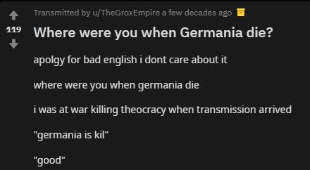 Germania is kil