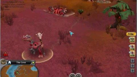 Playing as the Grox! Tribal Stage (Spore Hack Cheat)