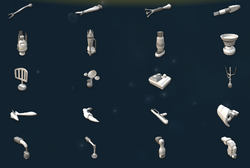 Space parts