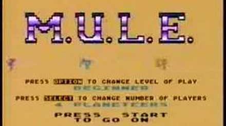 Atari 800 XL - M.U.L.E. intro