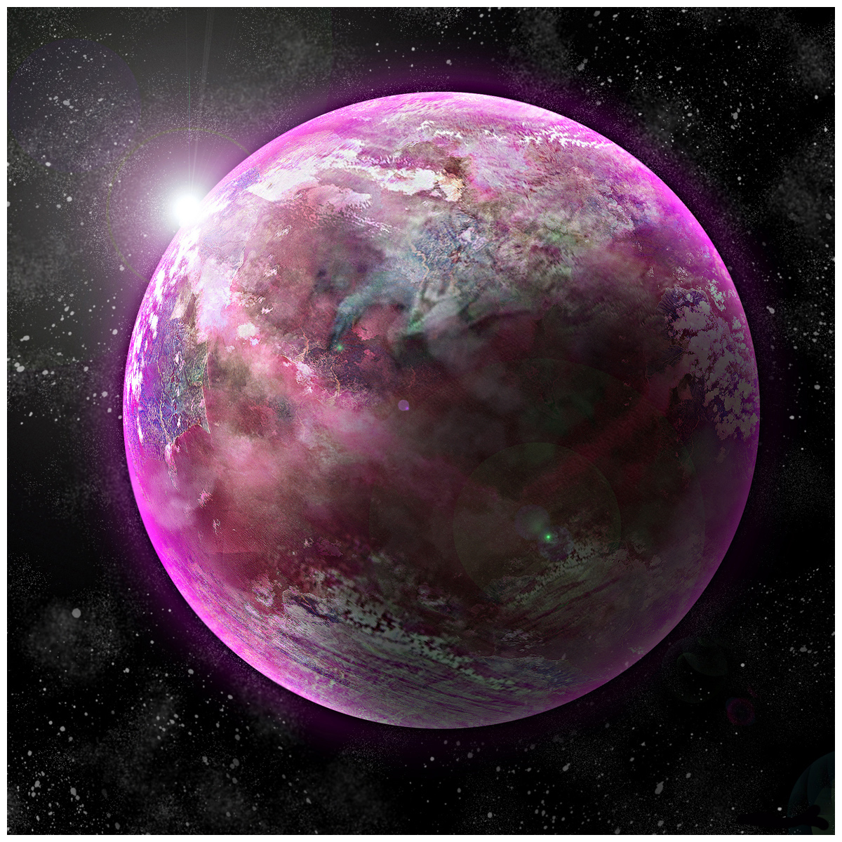 pink planet images - HD 1200×1200