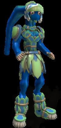 Humanoid Blue Skinned