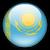 Круглый флаг Казахстана
