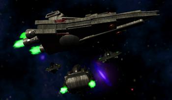 Liberator and Girdo ships