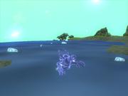 Голограмма плавает в воде