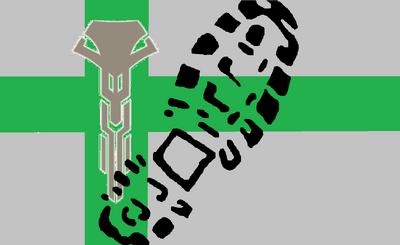 Mendel Vermillion Flag