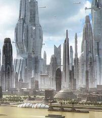 Utopian city 22nd century