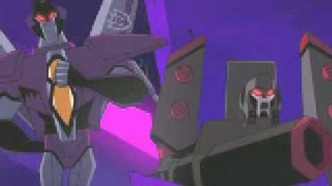 Starscream mocking Megatron